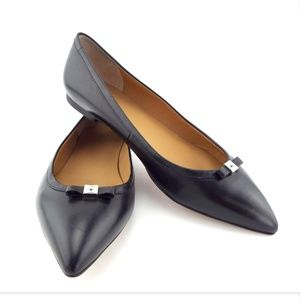 New MARC JACOBS Black Leather Ballerina Flats 39